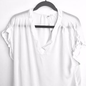 NWT, GAP white loose tunic blouse